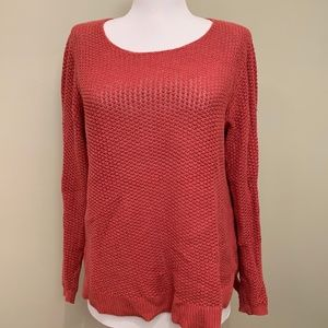 Old Navy Faded Red Scoop Neck Sweater (M)